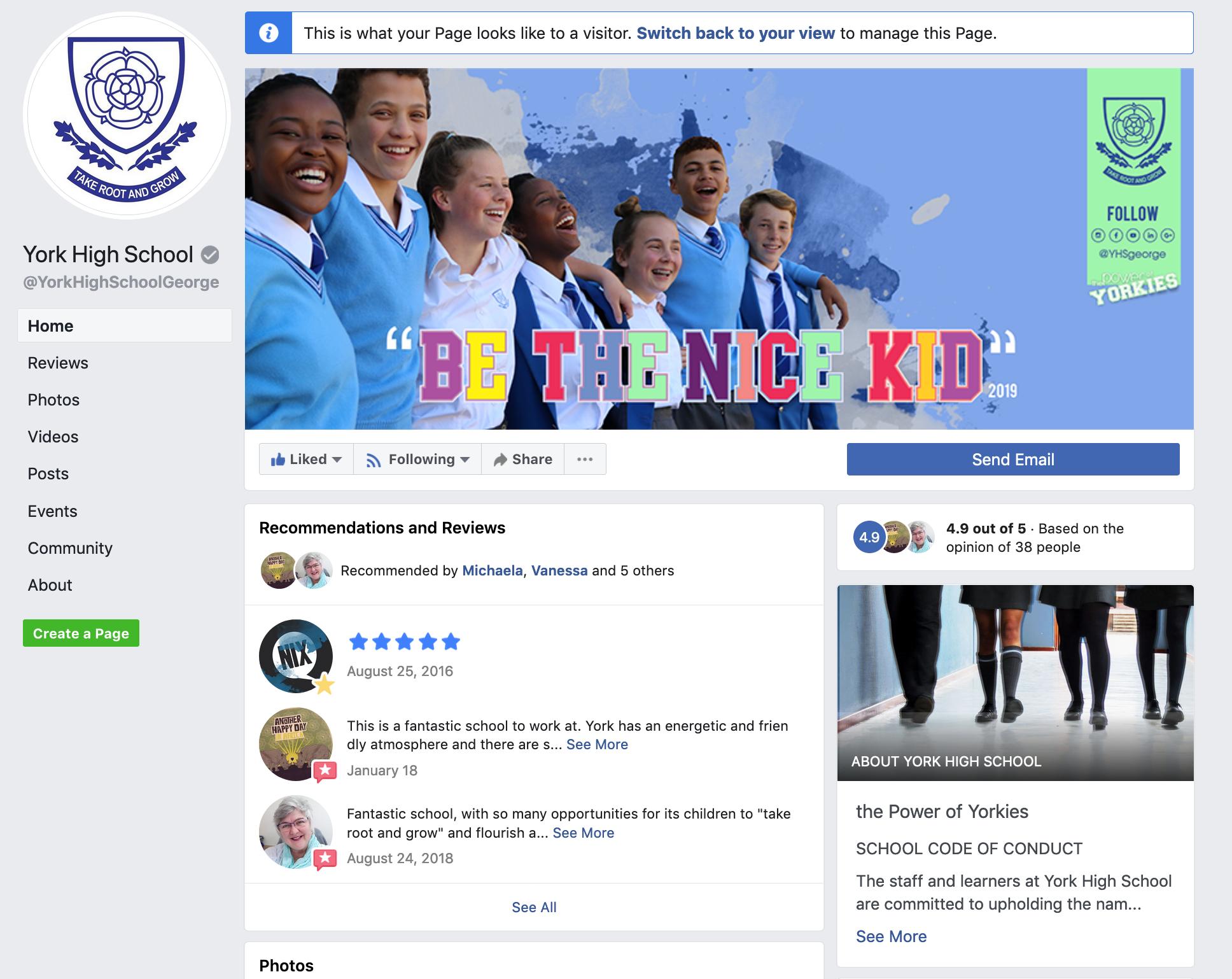 York High School Facebook